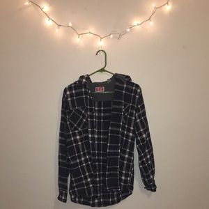 Tops - Oversized Plaid Button Up